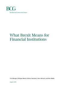 What Brexit Means for Financial Institutions
