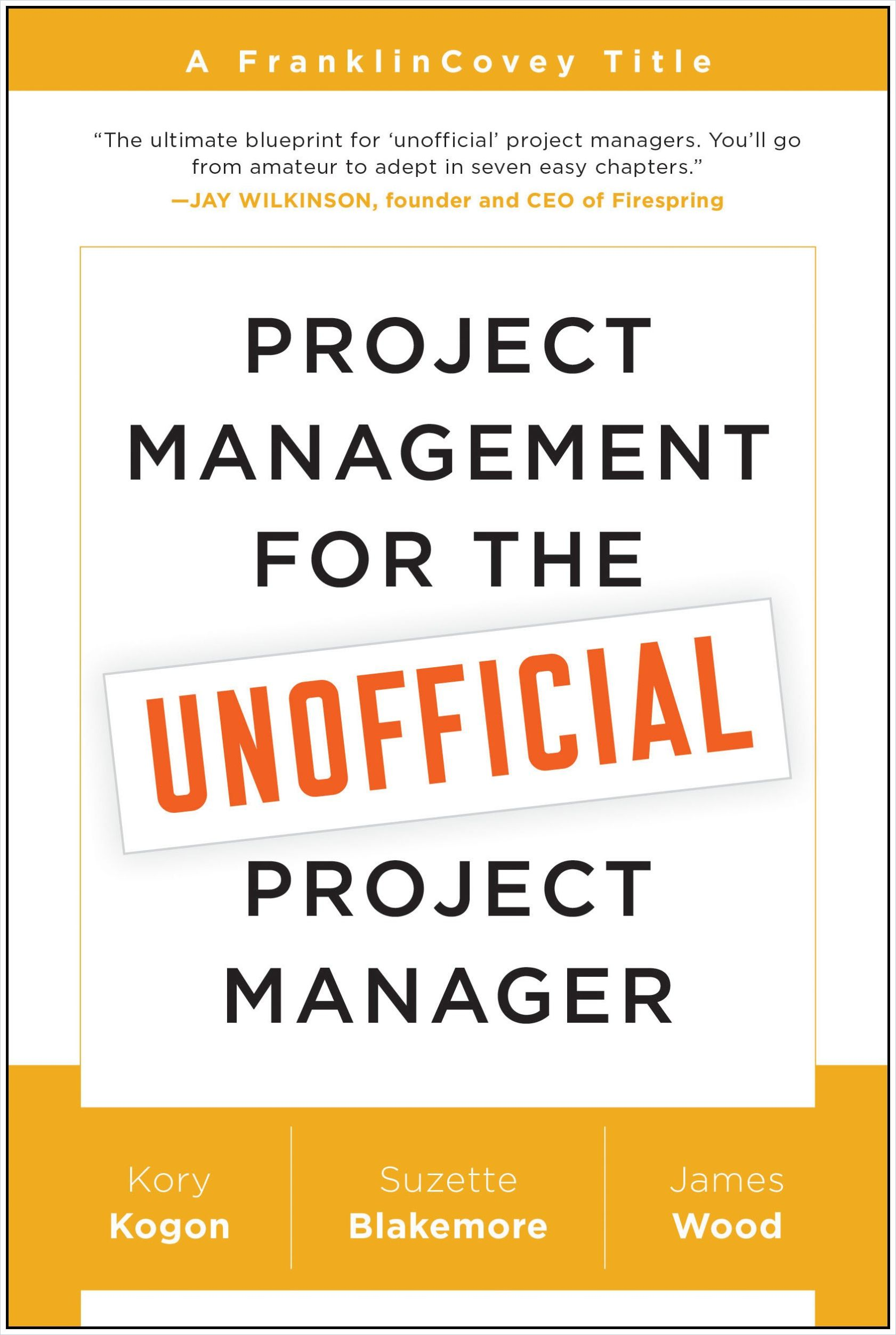 Image of: Project Management for the Unofficial Project Manager