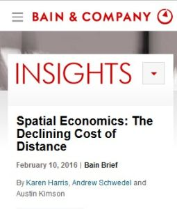Spatial Economics: The Declining Cost of Distance summary