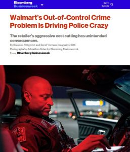 Walmart's Out-of-Control Crime Problem Is Driving Police Crazy summary