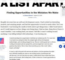 Finding Opportunities in the Mistakes We Make summary