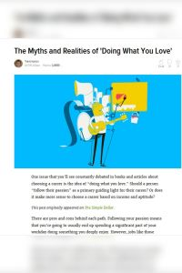The Myths and Realities of 'Doing What You Love' summary