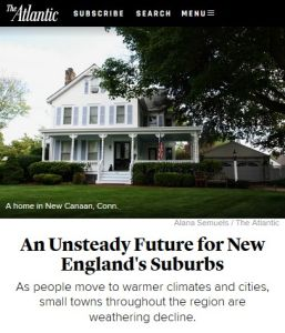 An Unsteady Future for New England's Suburbs