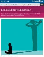 Is Mindfulness Making Us Ill? summary