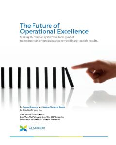 The Future of Operational Excellence summary