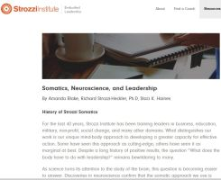 Somatics, Neuroscience, and Leadership summary