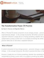 The Transformative Power of Practice summary