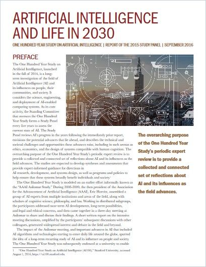 Image of: Artificial Intelligence and Life in 2030