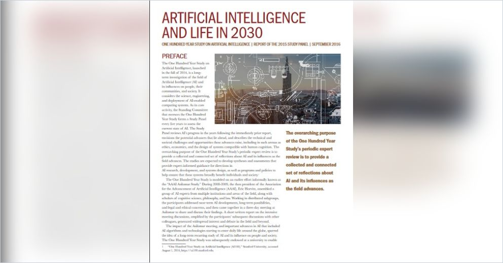 Artificial Intelligence and Life in 2030 Free Summary by
