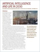 Artificial Intelligence and Life in 2030 summary