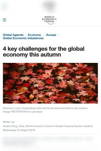 4 Key Challenges for the Global Economy this Autumn summary