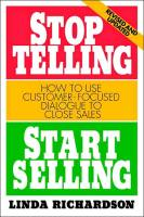 Stop Telling, Start Selling book summary