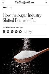 How the Sugar Industry Shifted Blame to Fat summary