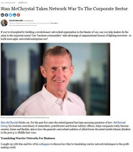 Stan McChrystal Takes Network War To The Corporate Sector