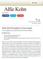 Why Self-Discipline Is Overrated summary