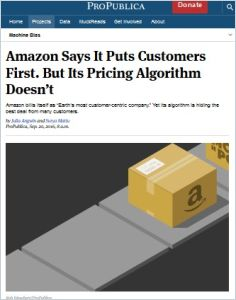 Amazon Says It Puts Customers First. But Its Pricing Algorithm Doesn't. summary
