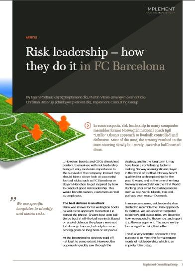 Image of: Risk Leadership