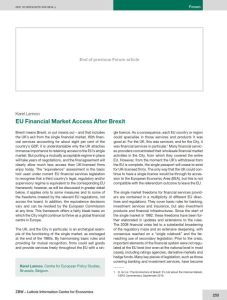 EU Financial Market Access After Brexit summary