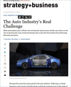 The Auto Industry's Real Challenge