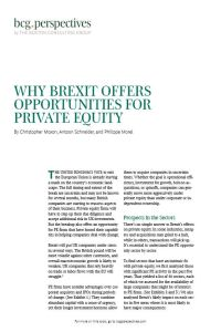 Why Brexit Offers Opportunities for Private Equity summary