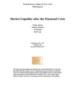 Market Liquidity after the Financial Crisis summary