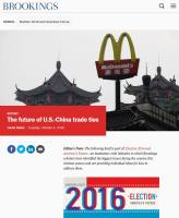 The Future of U.S.-China Trade Ties summary