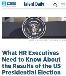 What HR Executives Need to Know About the Results of the US Presidential Election summary