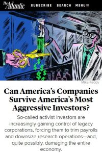 Can America's Companies Survive America's Most Aggressive Investors? summary