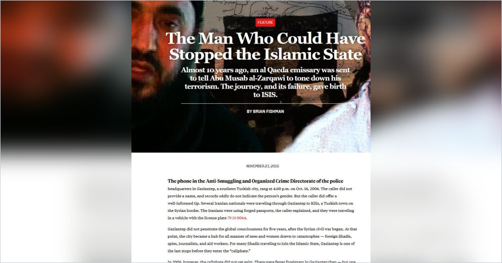 The Man Who Could Have Stopped The Islamic Stateenglische Version