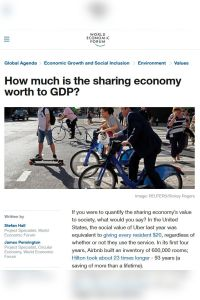 How Much Is the Sharing Economy Worth to GDP? summary