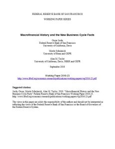 Macrofinancial History and the New Business Cycle Facts  summary