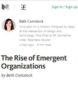 The Rise of Emergent Organizations