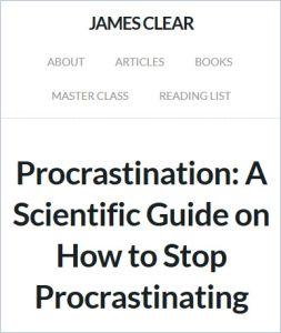 Procrastination summary