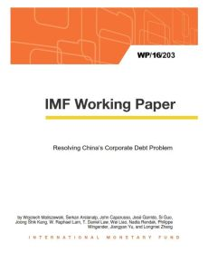 Resolving China's Corporate Debt Problem summary