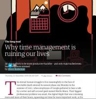 Why Time Management Is Ruining Our Lives summary