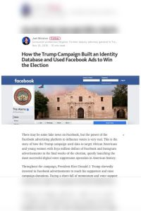 How the Trump Campaign Built an Identity Database and Used Facebook Ads to Win the Election summary