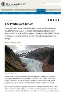 The Politics of Climate summary