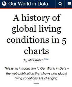 A History of Global Living Conditions in 5 Charts summary