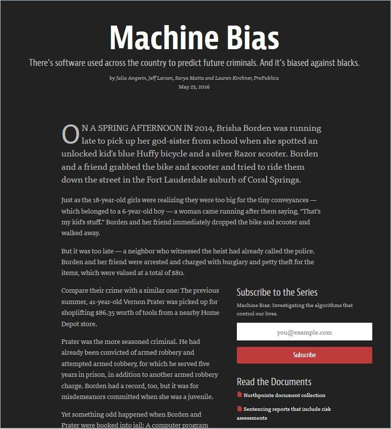 Image of: Machine Bias