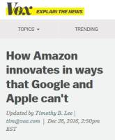 How Amazon Innovates in Ways that Google and Apple Can't summary