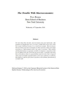 The Trouble With Macroeconomics summary