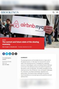 The Current and Future State of the Sharing Economy summary