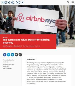 The Current and Future State of the Sharing Economy