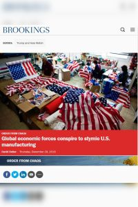 Global Economic Forces Conspire to Stymie U.S. Manufacturing summary