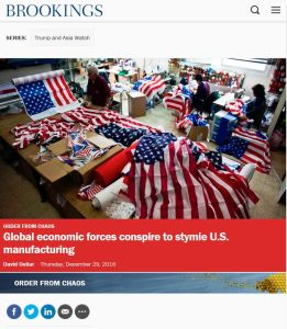 Global Economic Forces Conspire to Stymie U.S. Manufacturing