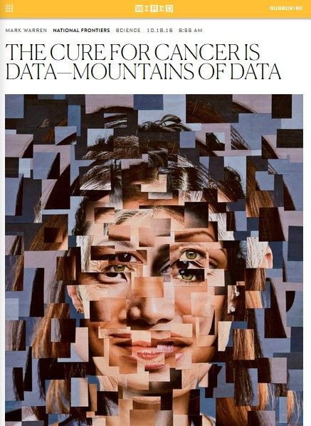 Image of: The Cure for Cancer Is Data – Mountains of Data