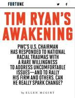 Tim Ryan's Awakening summary
