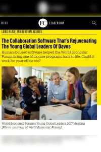 The Collaboration Software That's Rejuvenating the Young Global Leaders of Davos summary