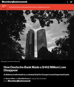 How Deutsche Bank Made a $462 Million Loss Disappear summary