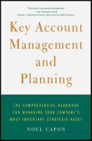Key Account Management and Planning book summary